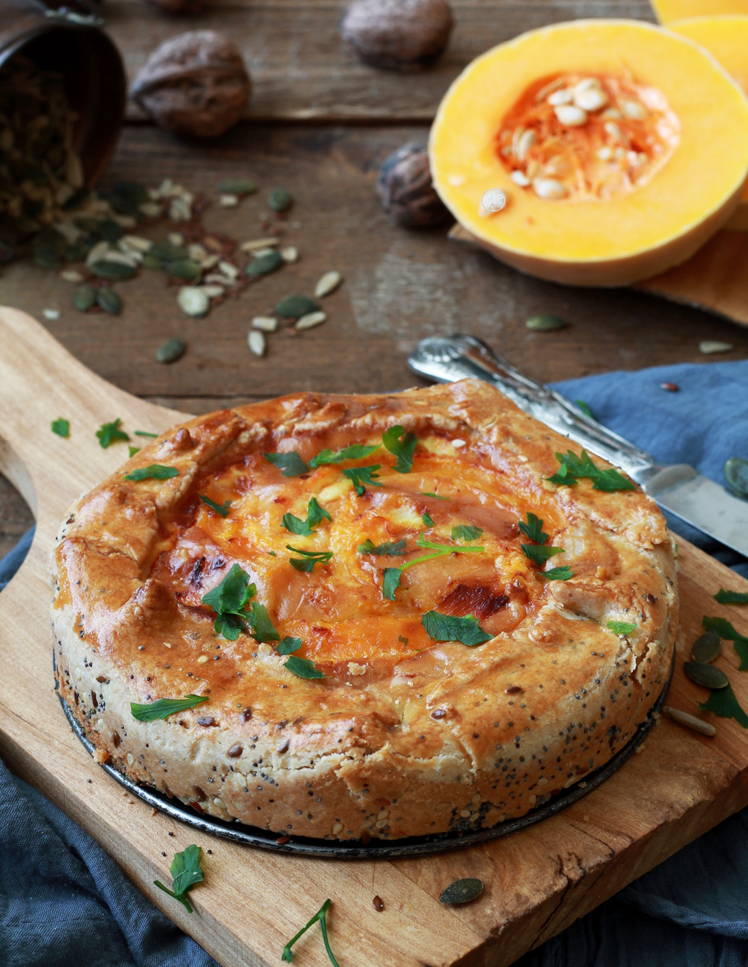 Torta rustica alla zucca senza glutine - La Cassata Celiaca