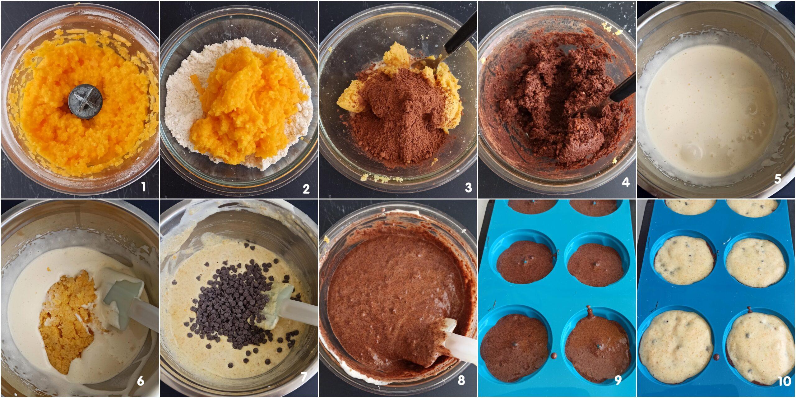 Tortine alla zucca e al cacao senza glutine - La Cassata Celiaca