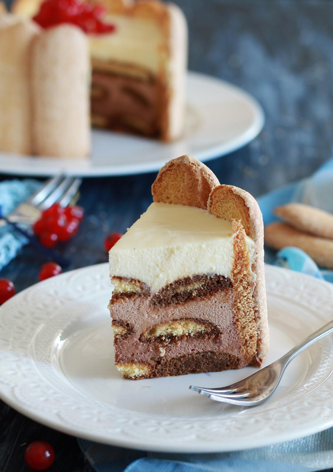 Charlotte senza glutine ai tre cioccolati - La Cassata Celiaca