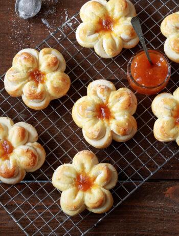 Fiori di brioche senza glutine - La Cassata Celiaca