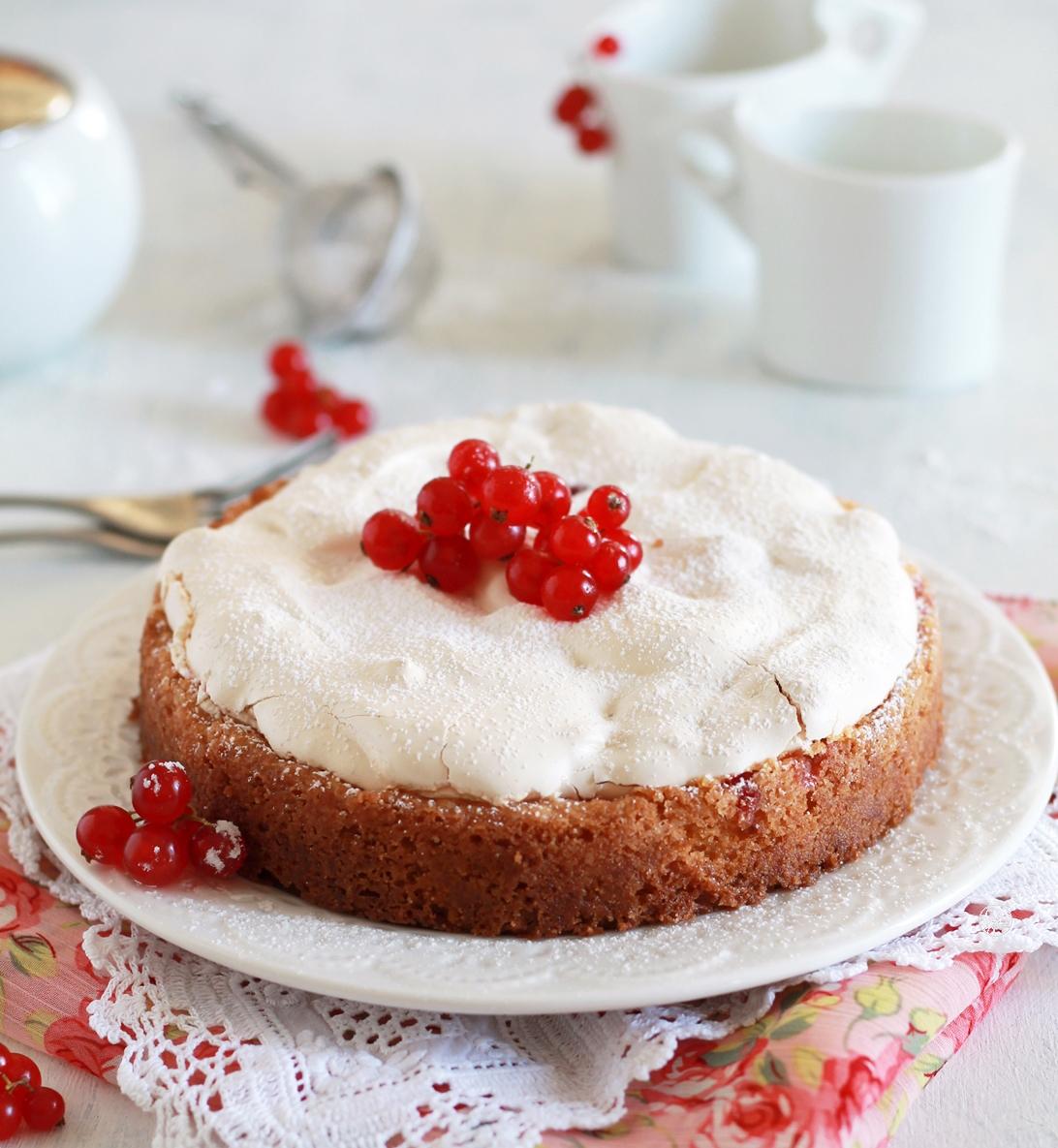 Torta meringata al ribes senza glutine - La Cassata Celiaca