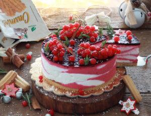 Cheesecake con yogurt e frutti di bosco senza glutine - La Cassata Celiaca