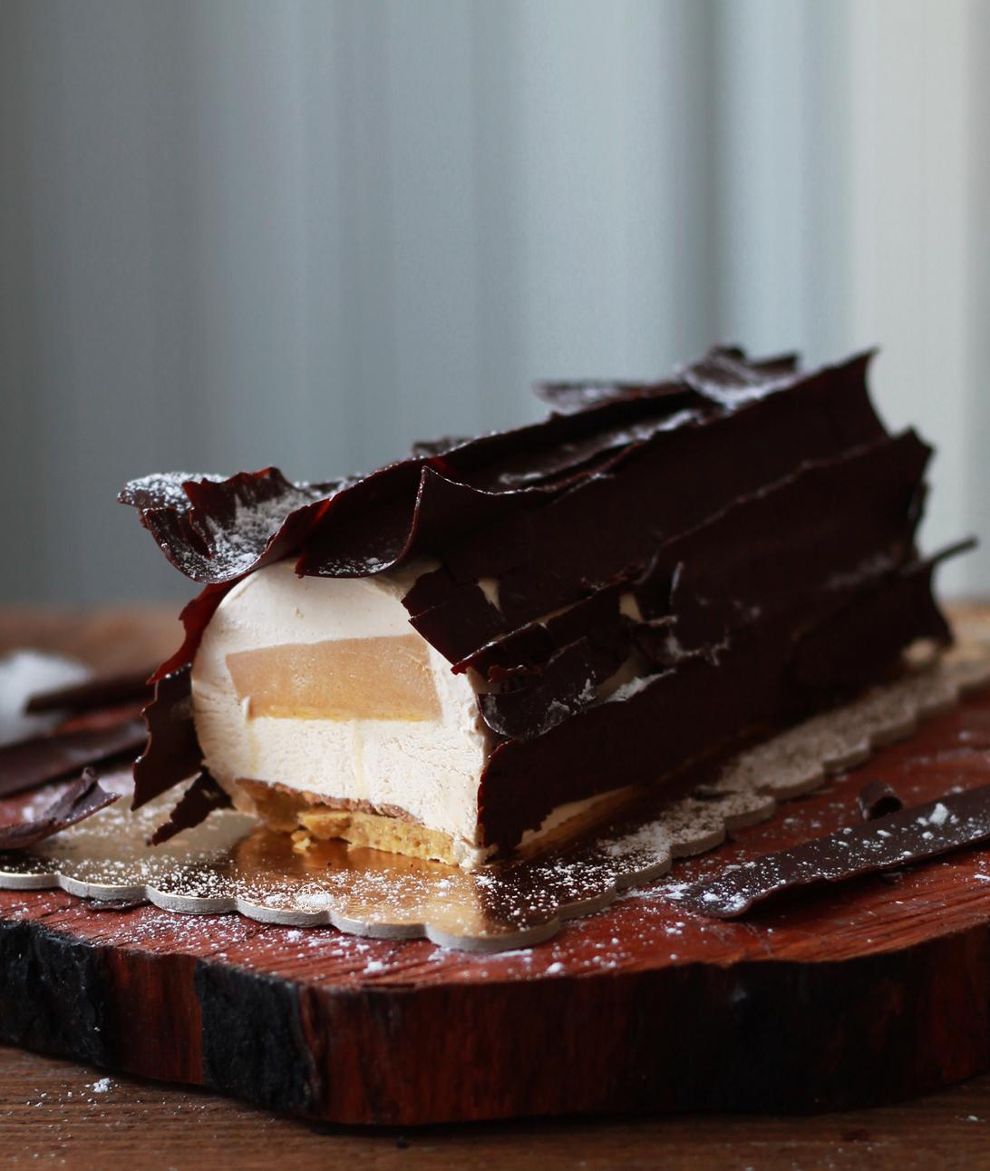 Tronchetto vaniglia e caramello senza glutine - La Cassata Celiaca