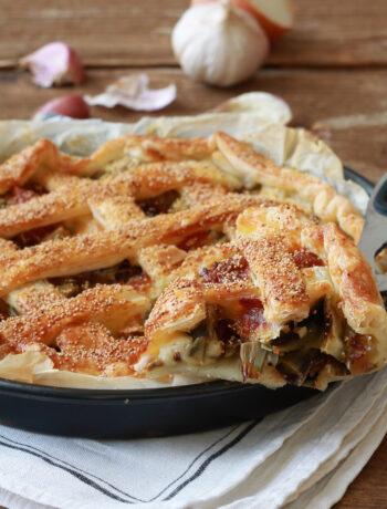 Tarte aux artichauts et lardons sans gluten - La Cassata Celiaca