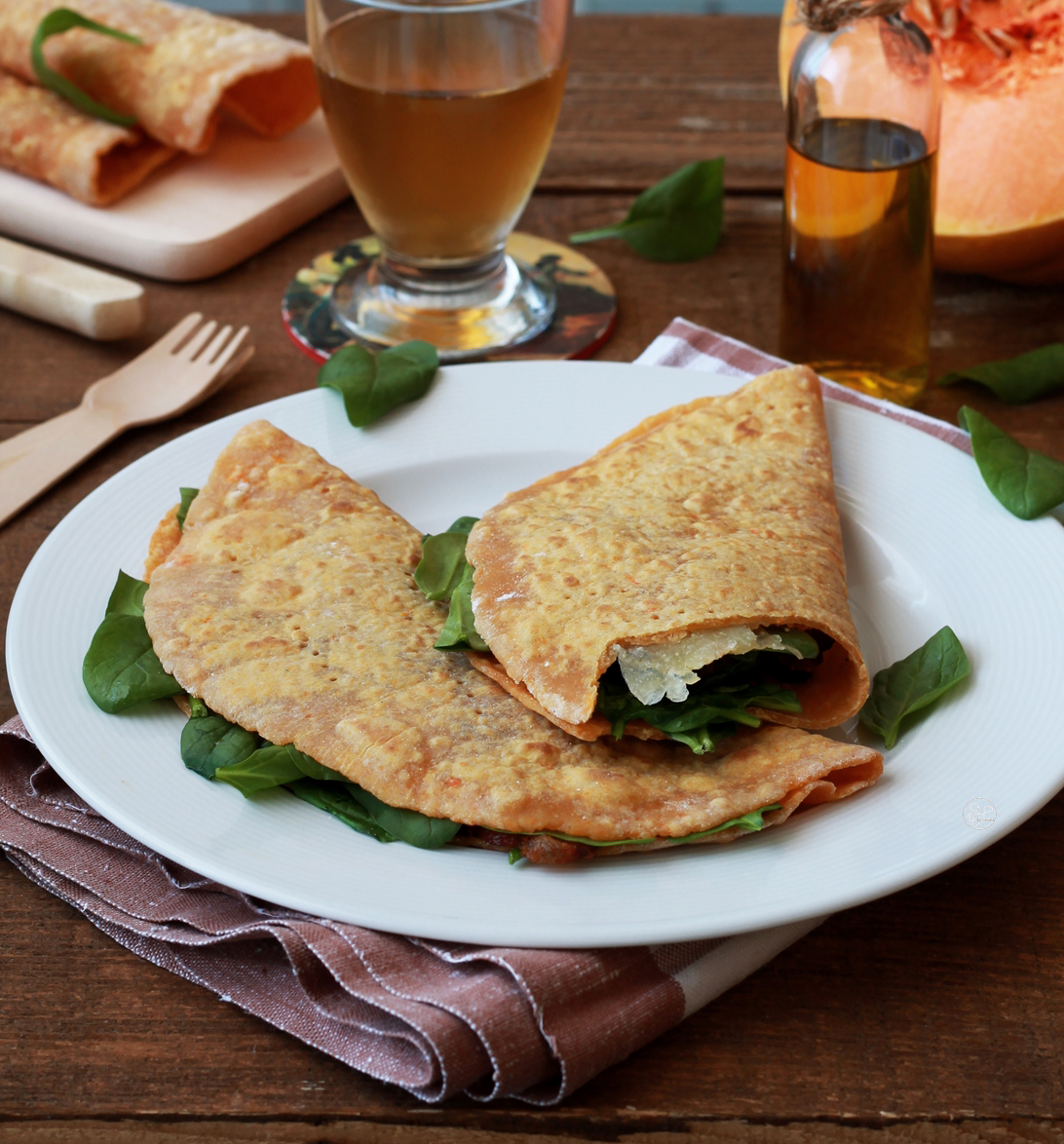 Piadina au potiron sans gluten - La Cassata Celiaca