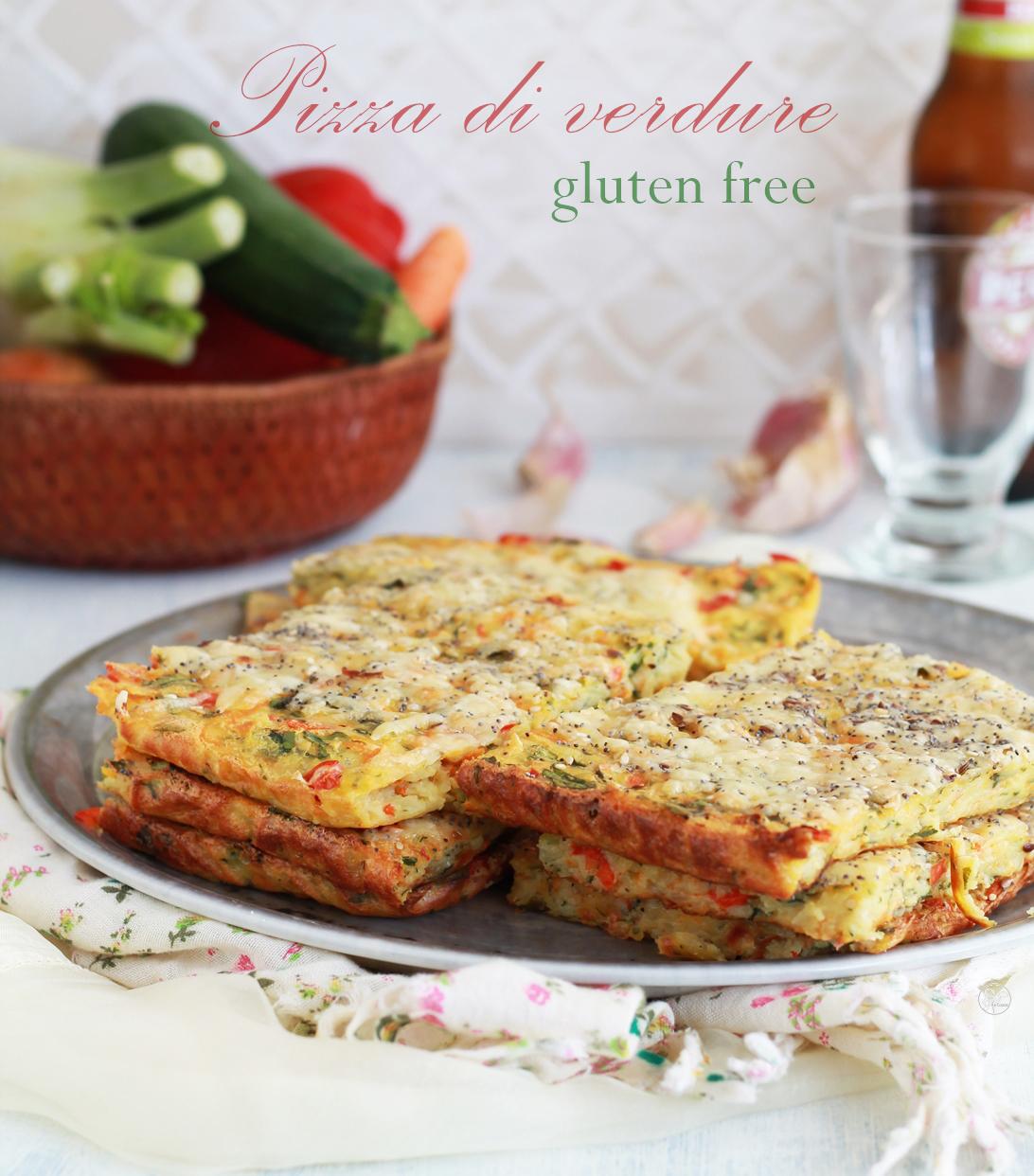 Pizza di verdure senza glutine - La Cassata Celiaca