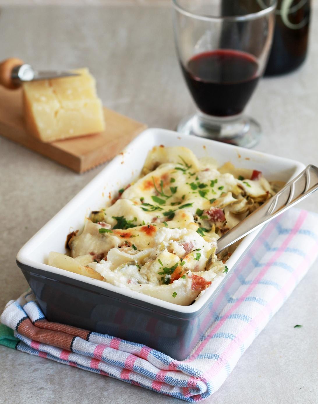 Conchiglioni senza glutine con carciofi e ricotta - La Cassata Celiaca