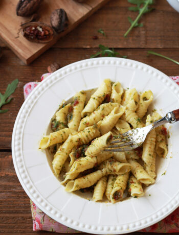 Garganelli senza glutine con pesto di rucola - La Cassata Celiaca