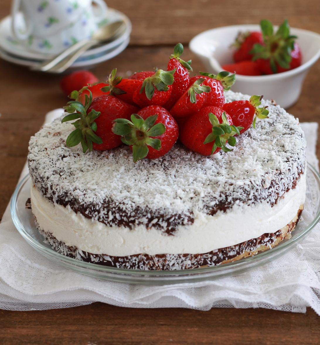 Lamington cake senza glutine - La Cassata Celiaca