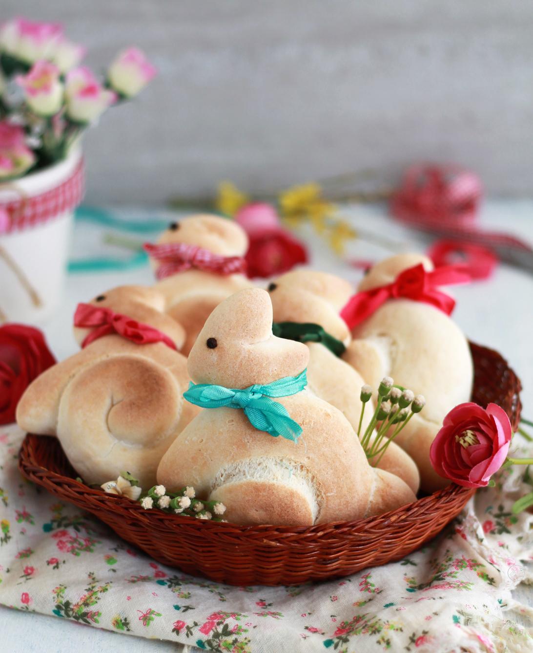 Coniglietti di pane al latte senza glutine - La Cassata Celiaca