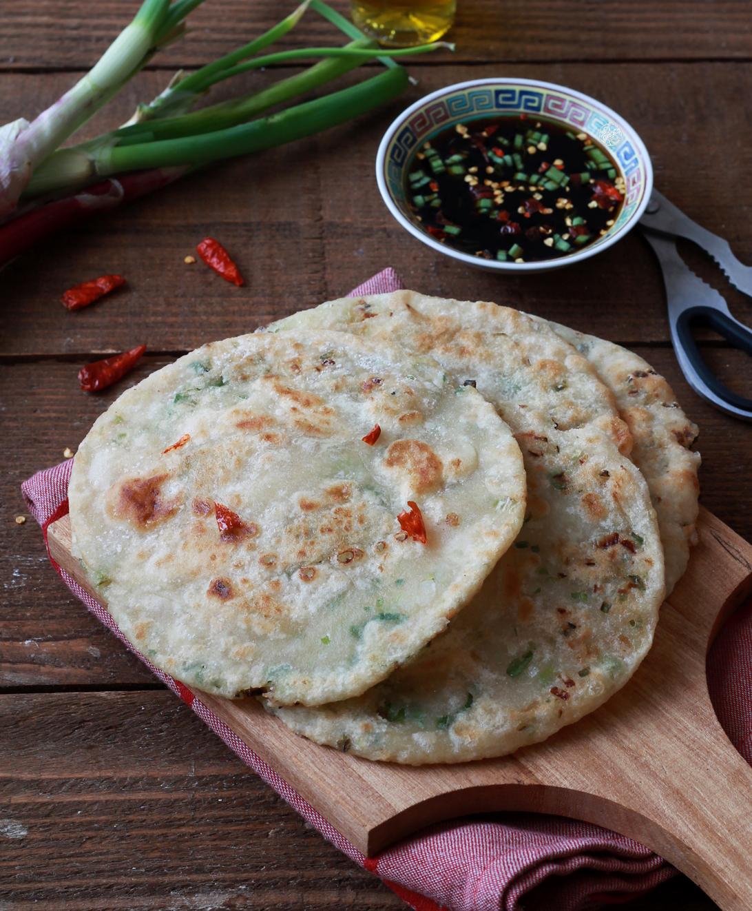 Pancakes cinesi al cipollotto senza glutine - La Cassata Celiaca