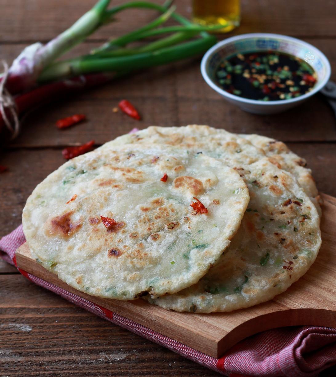 Pancakes chinois aux oignons verts sans gluten - La Cassata Celiaca