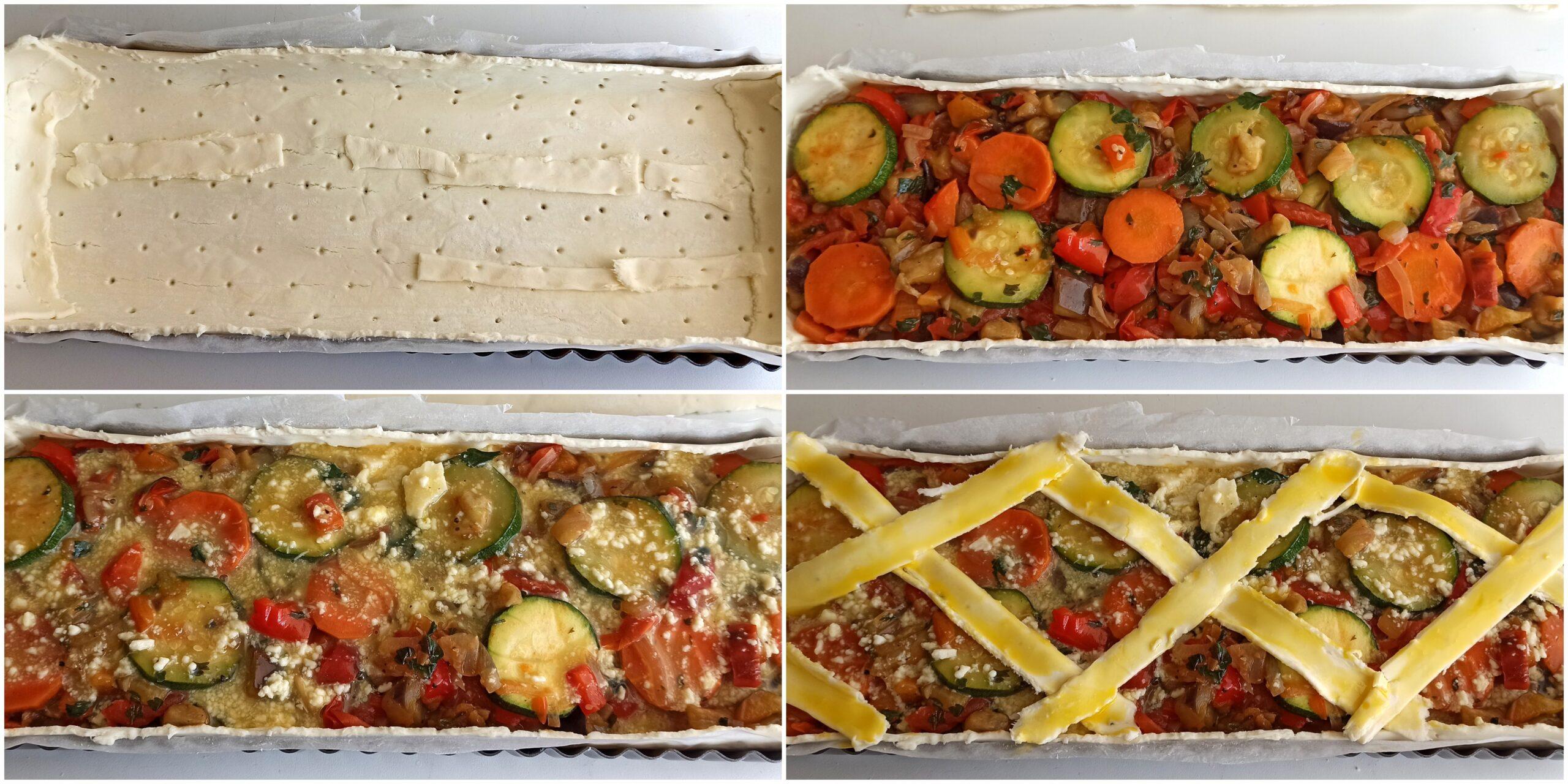 Crostata di verdure senza glutine - La Cassata Celiaca