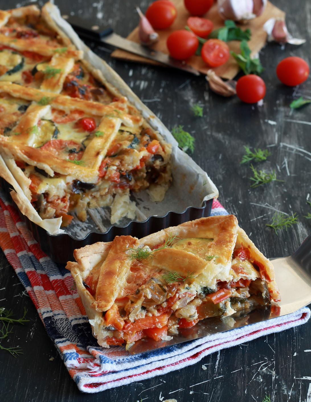 Tarte de légumes sans gluten - La Cassata Celiaca