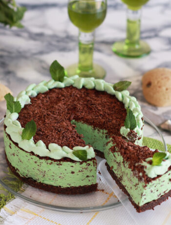 Cheesecake à la menthe et au chocolat sans gluten - La Cassata Celiaca