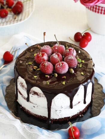 Gâteau Forêt noire aux cerises sans gluten - La Cassata Celiaca
