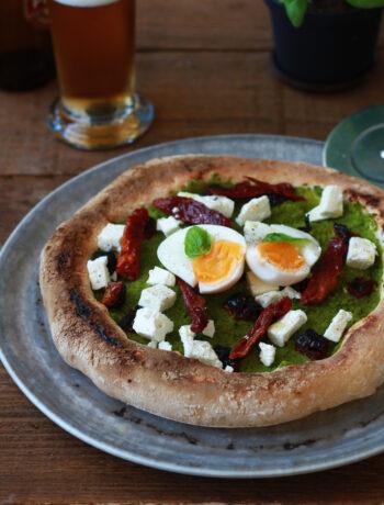 Pizza senza glutine con crema di piselli - La Cassata Celiaca