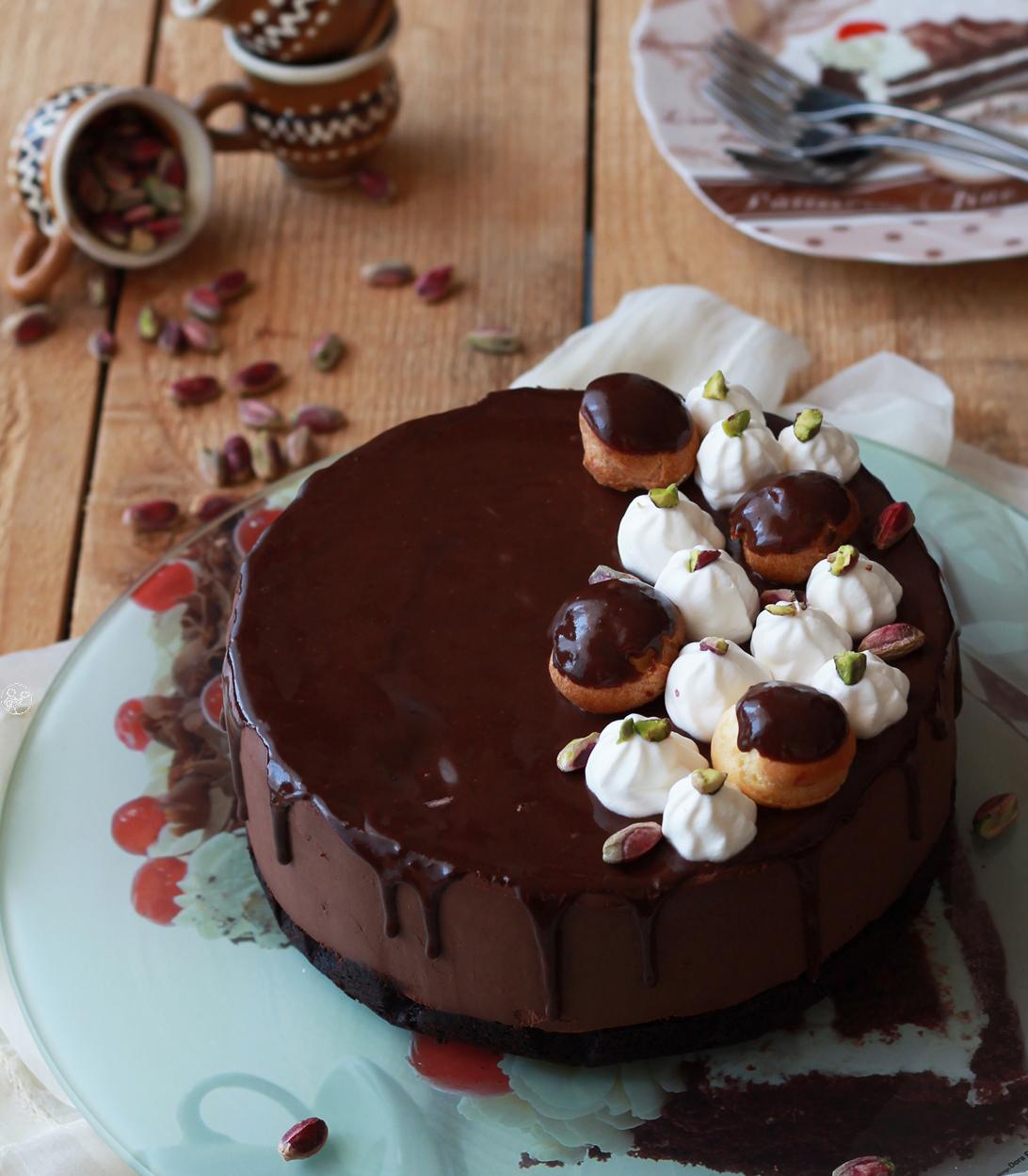 Profiterole cake sans gluten - La Cassata Celiaca