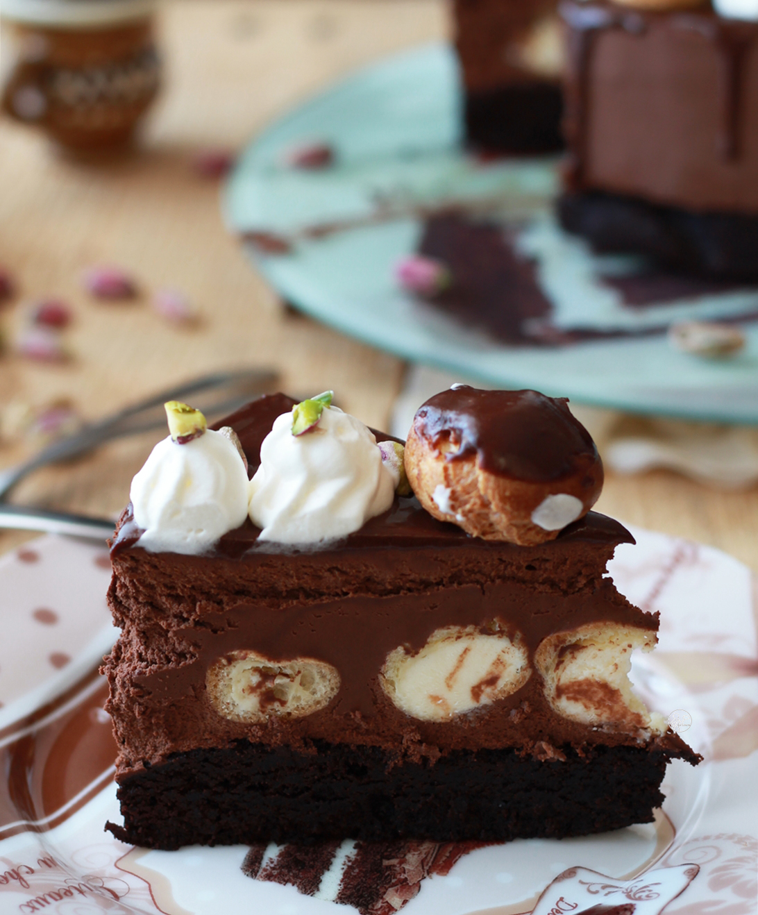 Profiterole cake senza glutine - La Cassata Celiaca