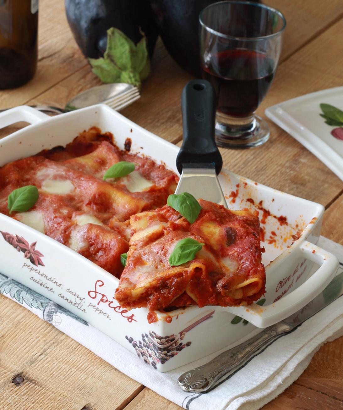 Cannelloni estivi con melanzane senza glutine - La Cassata Celiaca