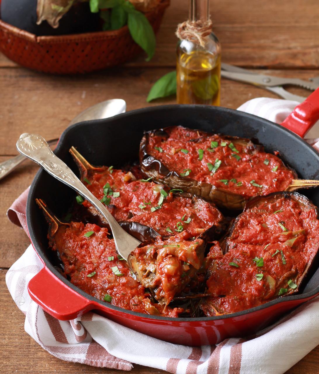 Imam bayildi o melanzane ripiene alla turca - La Cassata Celiaca