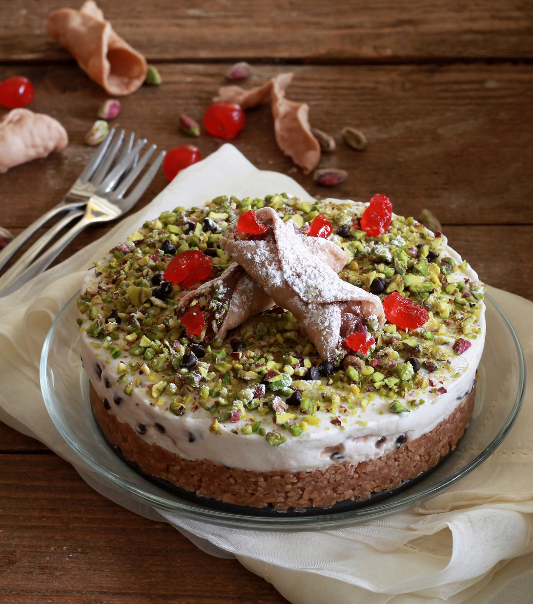 Torta cannolo senza glutine - La Cassata Celiaca