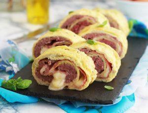Rotolo di frittata con carne - La Cassata Celiaca