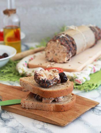 Saucisson de fromage salé sans gluten - La Cassata Celiaca