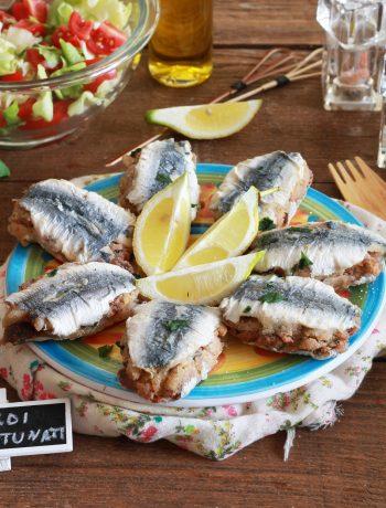Sarde ripiene o sardi mbuttunati senza glutine - La Cassata Celiaca