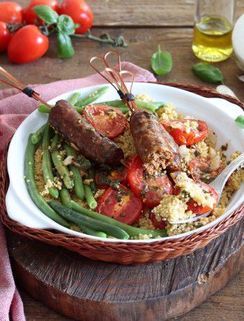 Couscous avec haricots verts et merguez sans gluten - La Cassata Celiaca