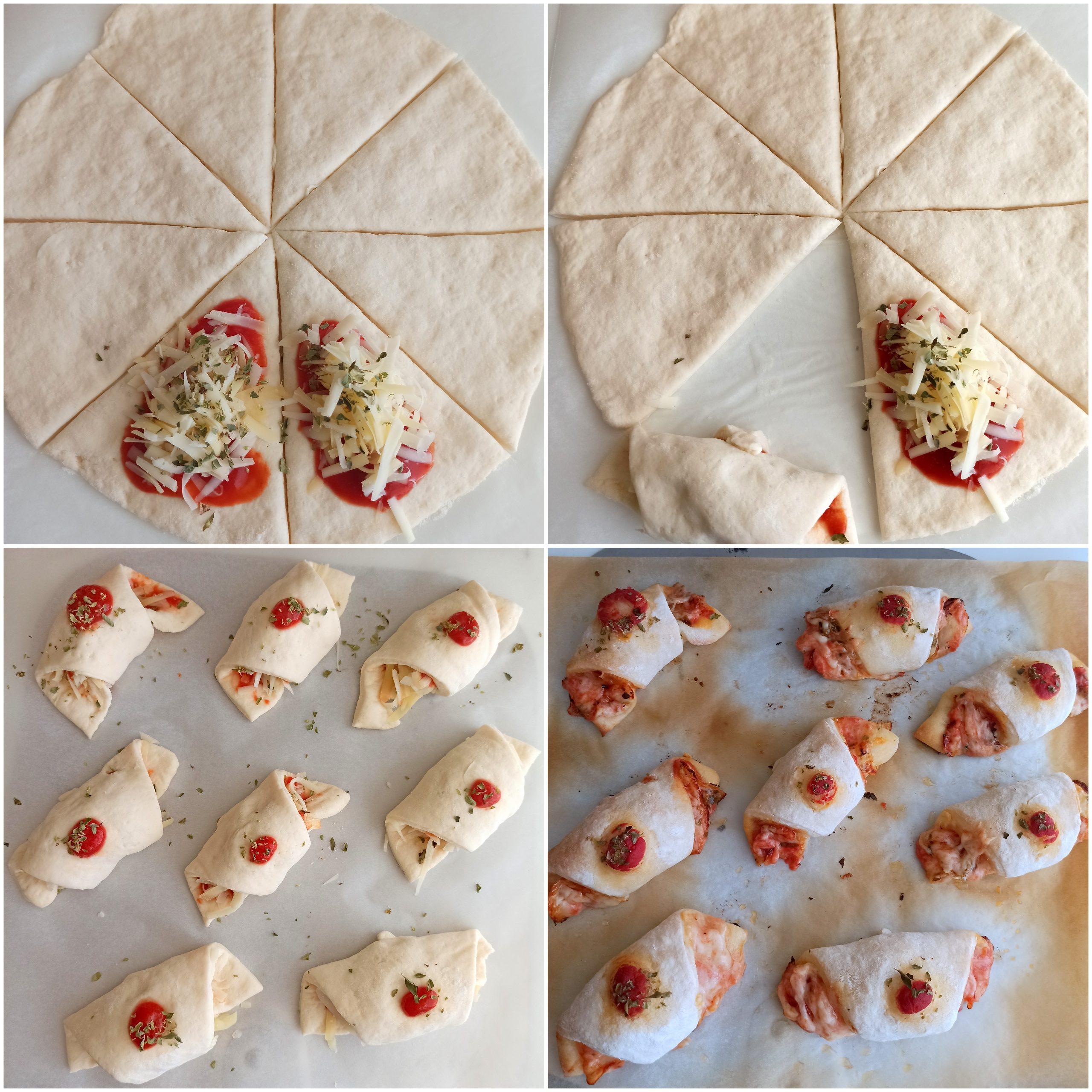 Croissant di pizza senza glutine - La Cassata Celiaca