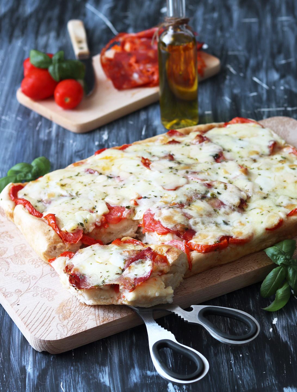 Pizza rustica in teglia senza glutine - La Cassata Celiaca