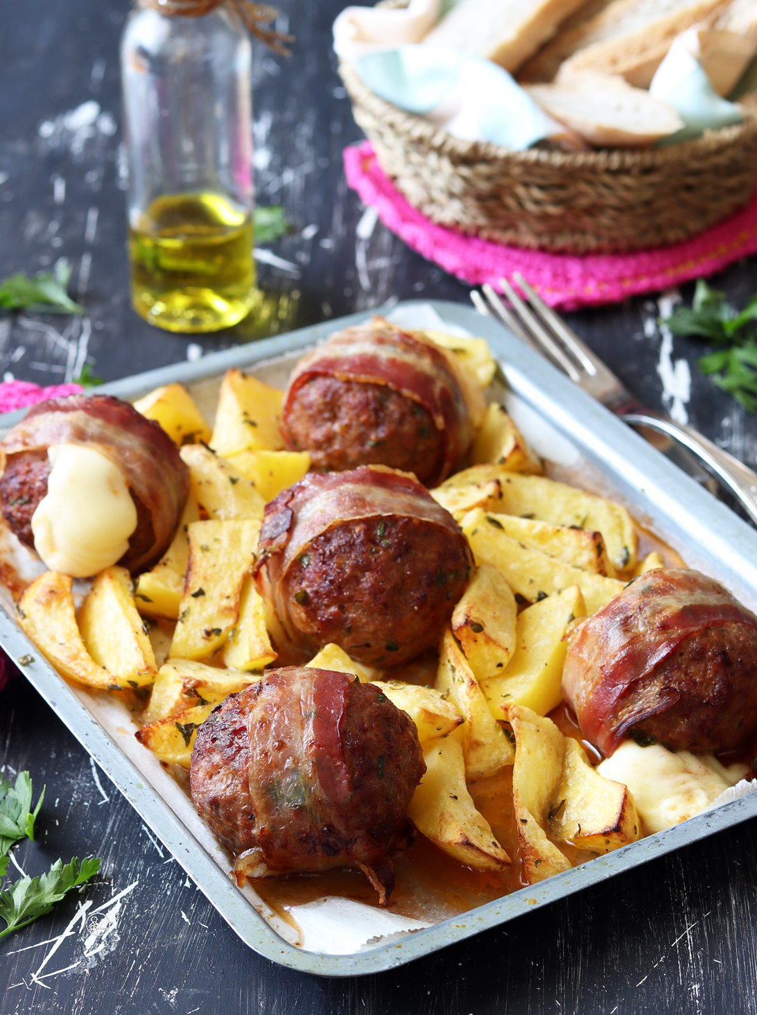 Polpette di carne dal cuore filante - La Cassata Celiaca