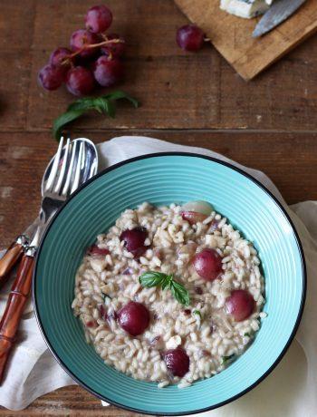 Risotto aux raisins frais et au gorgonzola - La Cassata Celiaca