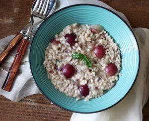 Risotto all'uva e gorgonzola - La Cassata Celiaca