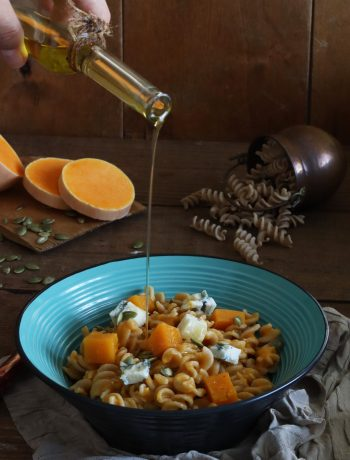 Fusilli sans gluten avec courge et gorgonzola - La Cassata Celiaca